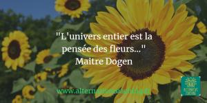 l univers entier est la pensée des fleurs